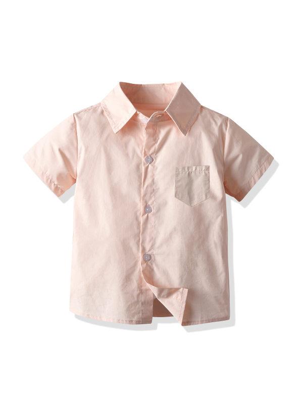 【12M-7Y】Boys Casual Short Sleeve Shirt
