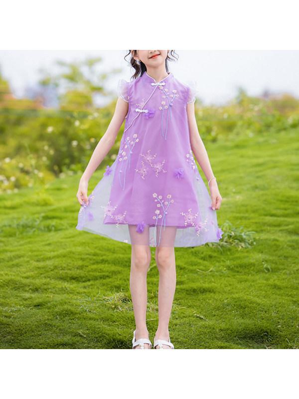 【3Y-13Y】Big Girl Cheongsam And Hanfu Summer Dress