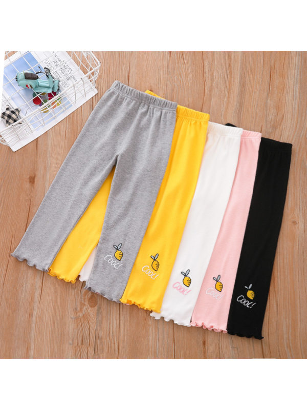 【18M-7Y】Girls Embroidered Stretch Legging Trousers