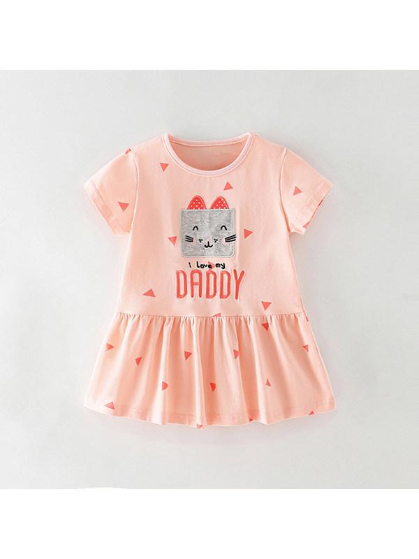 【18M-9Y】Girl Cartoon Cute Print Dress
