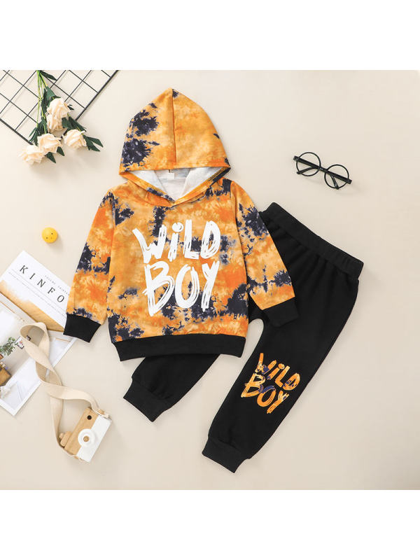 【12M-5Y】Boys Hooded Trousers Two-Piece Suit