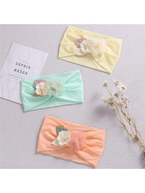 Nylon Stretch Stitching Combination Flower Headband