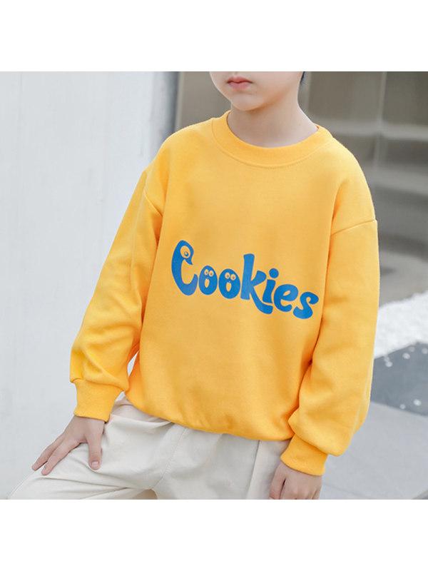 【2Y-13Y】Boys' Letter Print Long Sleeve Sweatshirt