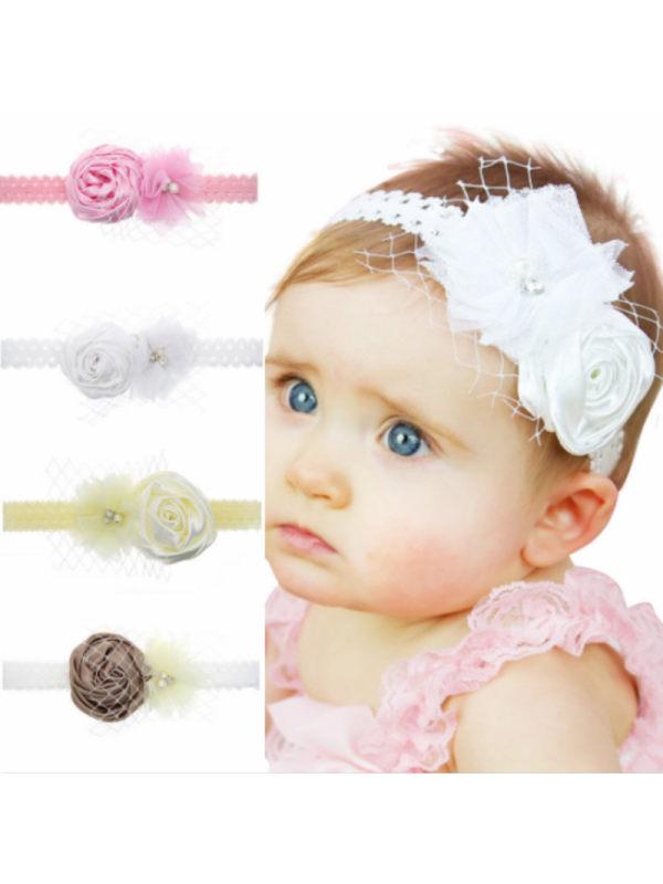 Baby Rose Lace Flower Headband