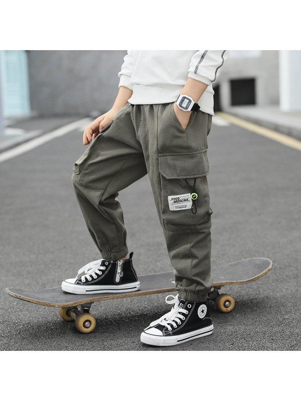 【3Y-13Y】Boy's Loose Casual Workwear Trousers