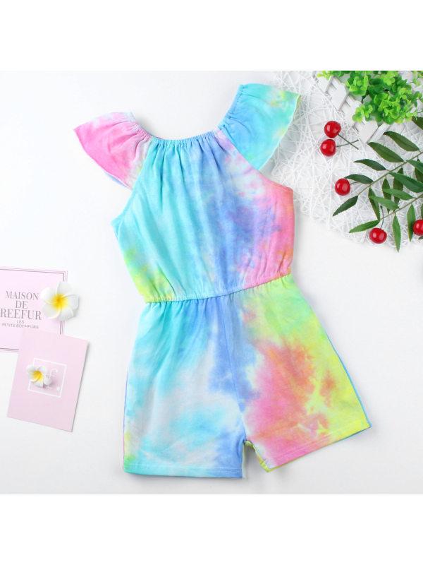 【18M-7Y】Girls' Tie-dye Jumpsuit