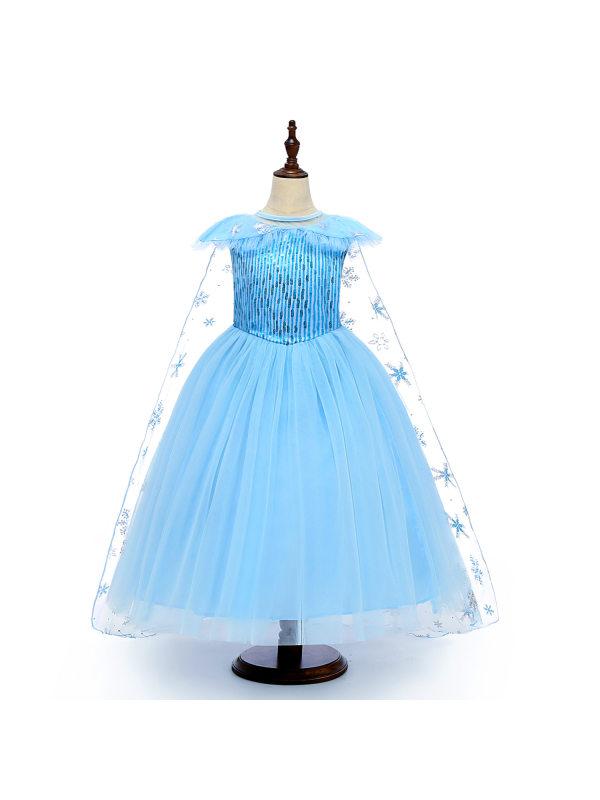 【3Y-8Y】Girls Sleeveless Mesh Princess Dress