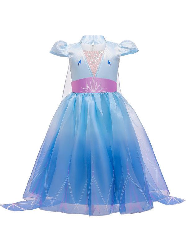 【3Y-9Y】Girls Sweet Mesh Princess Dress