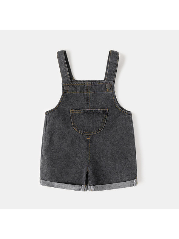 【6M-4Y】Boys Denim Sling Jumpsuit Shorts