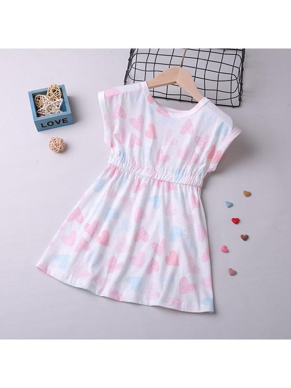 【18M-7Y】Girls Sleeveless Round Neck Loving Waist A-line Dress