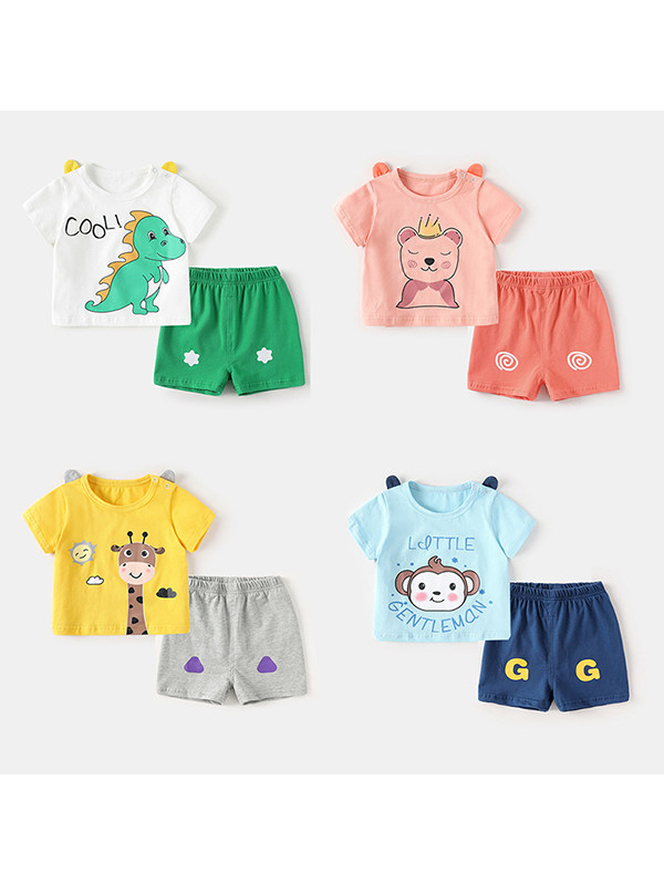 【6M-4Y】Summer Two-piece Clothes for Boys and Girls