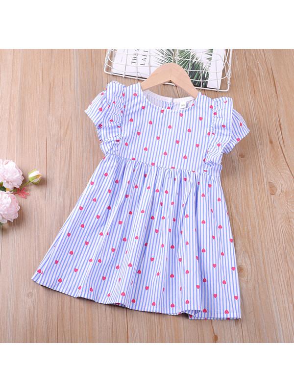 【18M-7Y】Girls Sleeveless Round Neck Striped A-line Dress