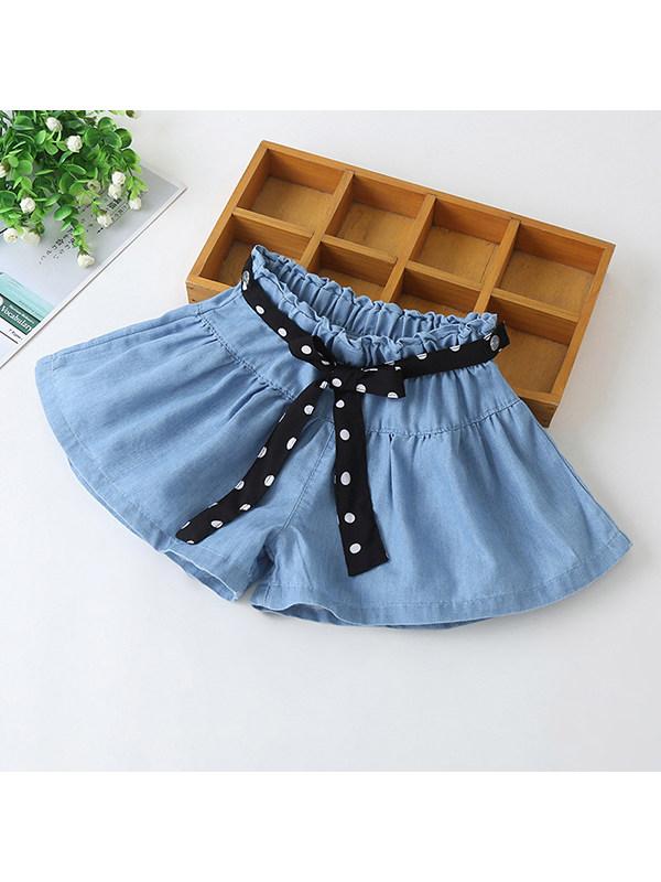 【3Y-13Y】Girls Denim A-line Shorts