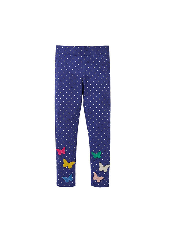 【18M-9Y】Girls Embroidered Leggings