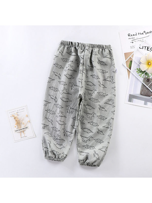 【12M-7Y】Boys' Cartoon Print Thin Sports Trousers
