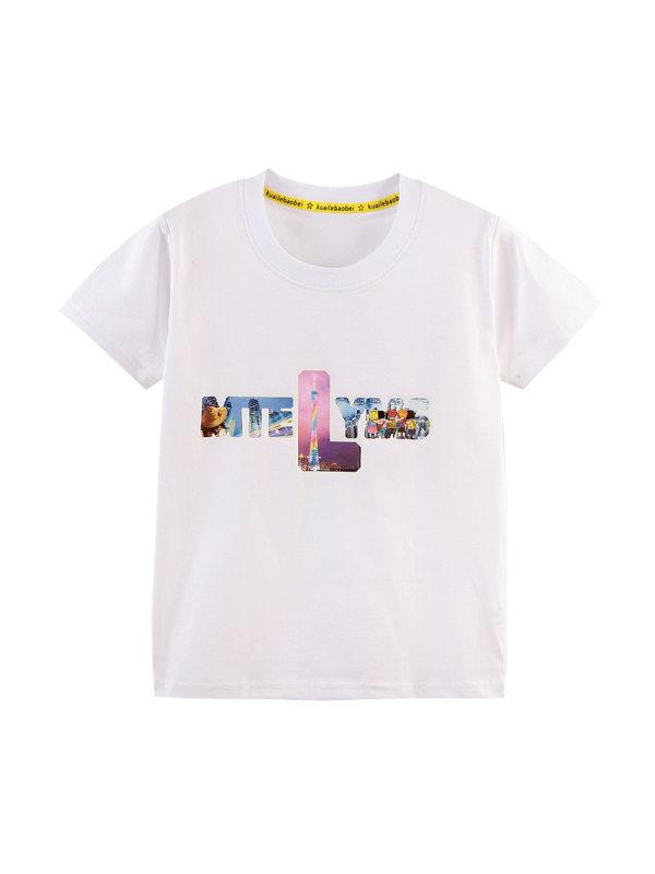 【90-140cm】Boys Trend Print Short Sleeve T-shirt