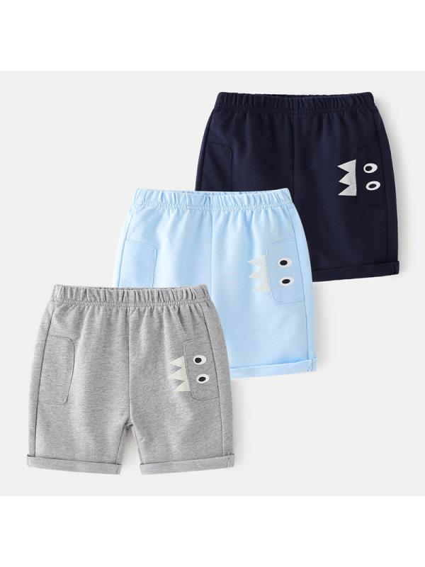 【18M-7Y】Boys' Cartoon-print Five-point Pants