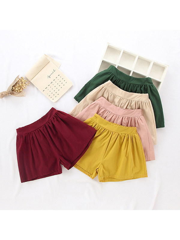 【12M-7Y】Girls Candy Color A-line Shorts