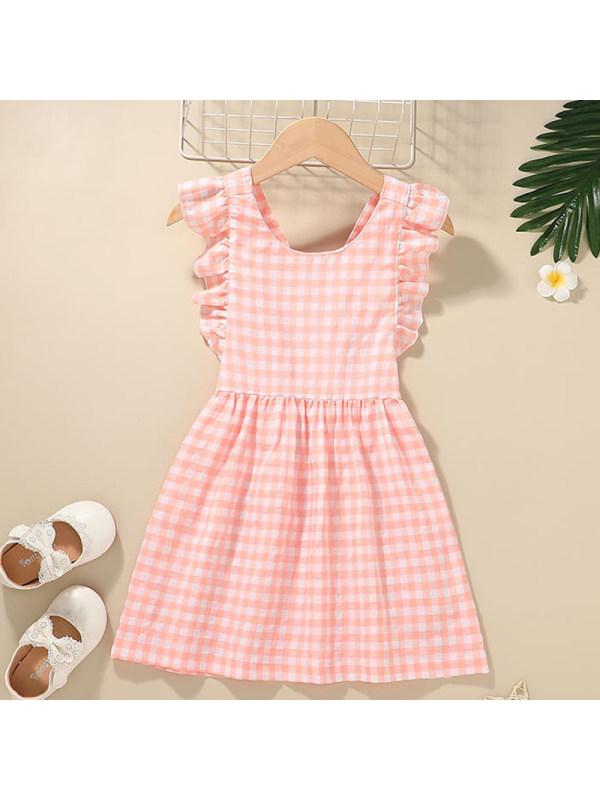 【12M-5Y】Girl Sweet Pink Plaid Dress