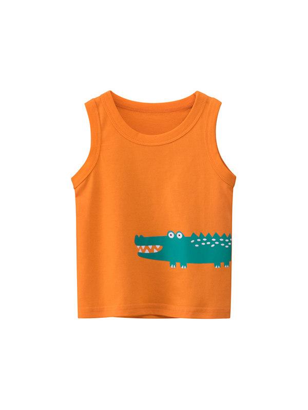 【18M-9Y】Boys print sleeveless tank top