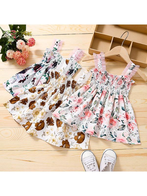 【12M-5Y】Girls Floral Sling Dress