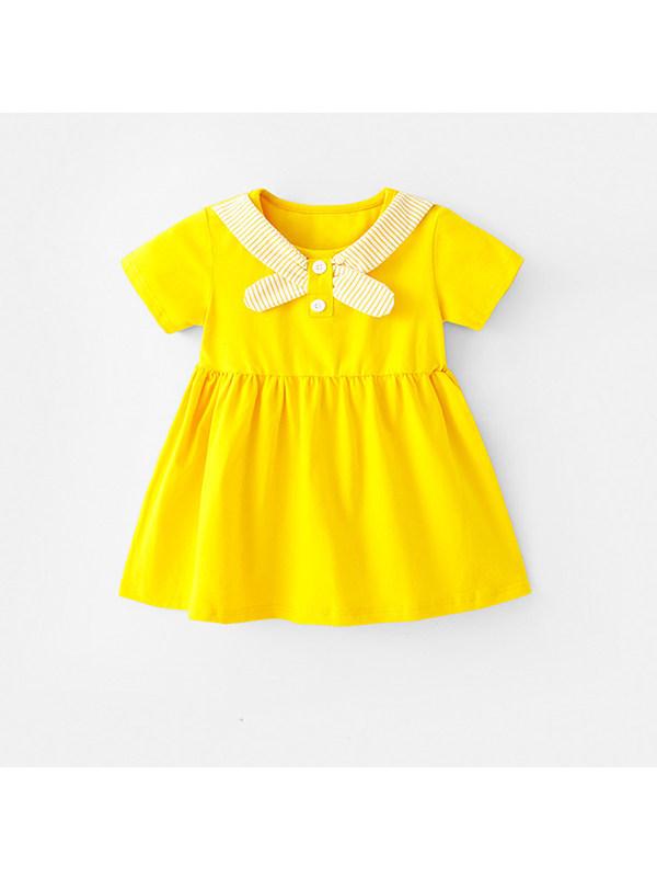 【18M-7Y】Girls Bow Cute Dress