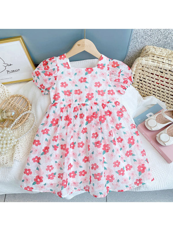 【2Y-9Y】Girls Floral Princess Dress