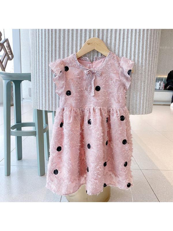 【18M-7Y】Girls Polka Dot Princess Dress