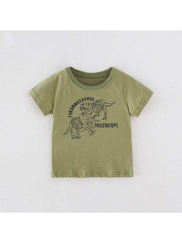 【18M-9Y】Boys Round Neck Cartoon Print Short Sleeve T-shirt