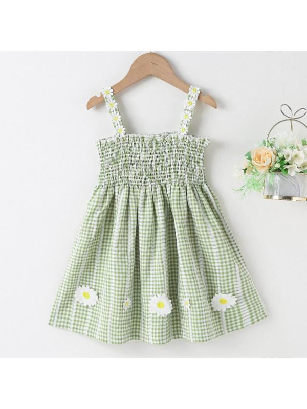 【18M-7Y】Sweet Flower Print Sling Dress