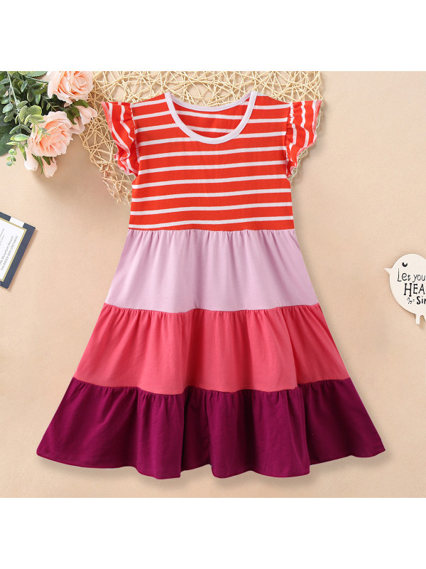 【18M-9Y】Cute Striped Round Neck Dress