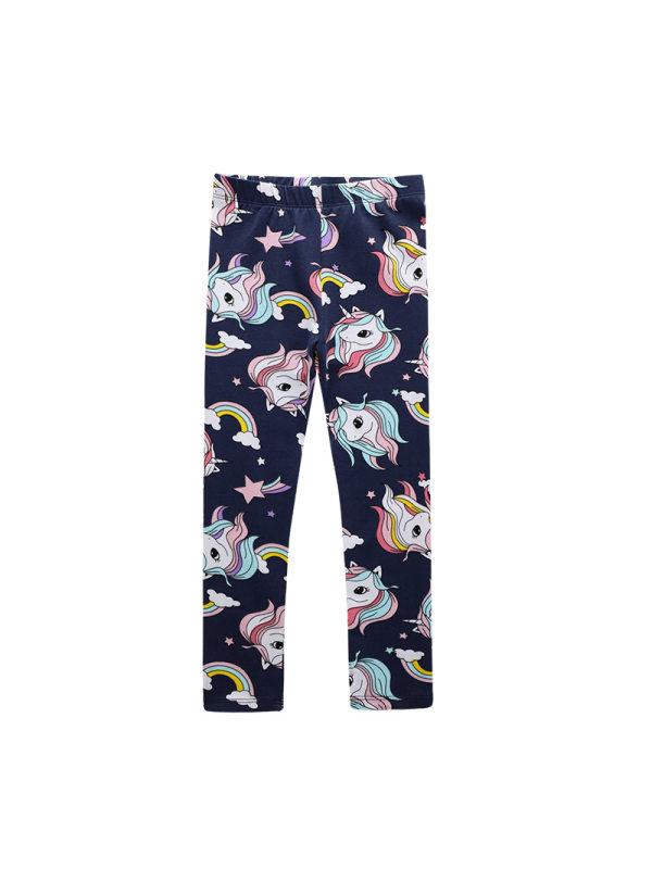 【12M-7Y】Girls Unicorn Print Leggings