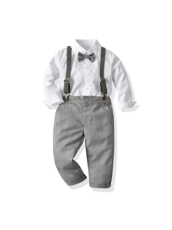 【12M-9Y】Boys Vest Shirt Trousers British Style Suit