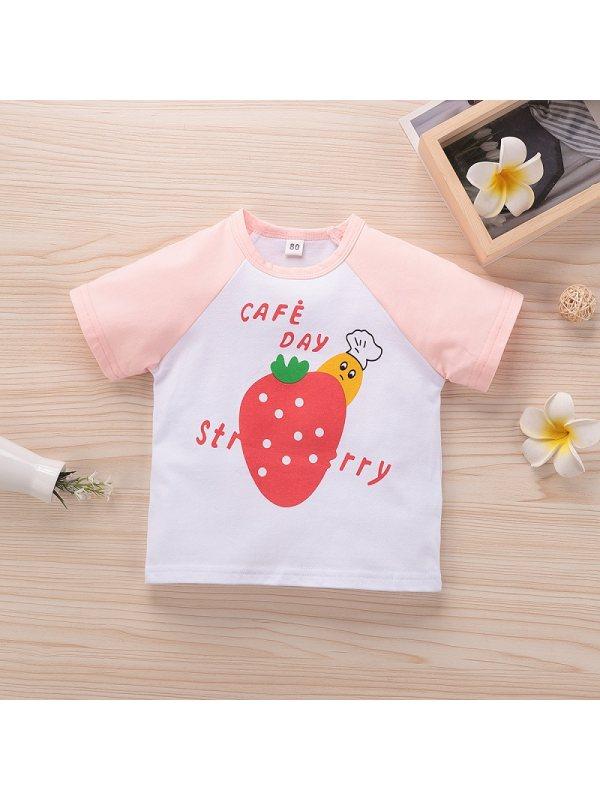 【12M-5Y】Baby Short-sleeved Fruit Print T-shirt