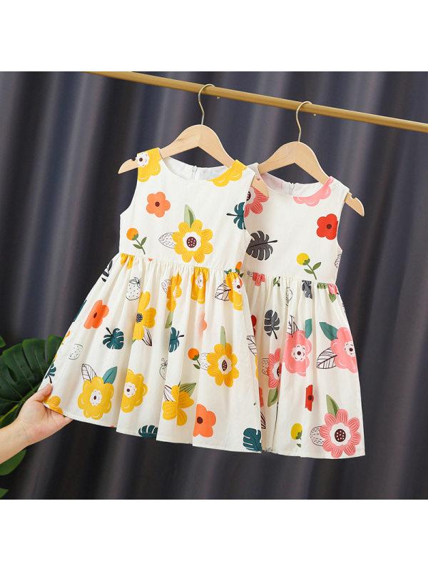 【2Y-9Y】Girls' Casual Small Fresh Vest Dress