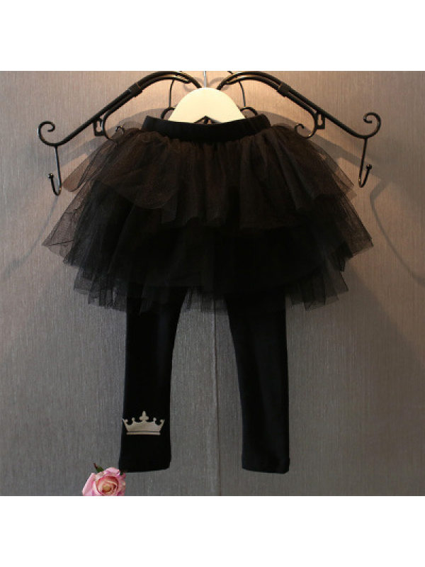 【18M-7Y】Girls' Crown Cake Culottes