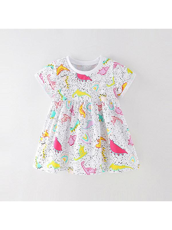 【18M-9Y】Girl Cartoon Print Dress