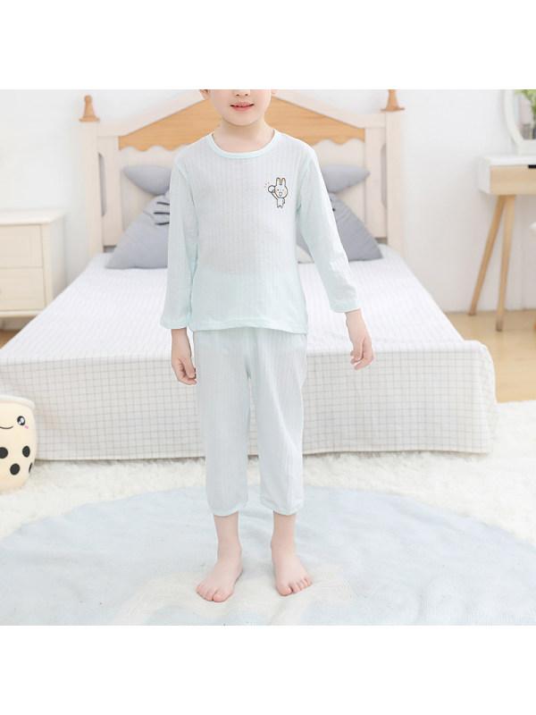 【2Y-11Y】Boy's 9-point Sleeve Summer Thin Pajama Suit