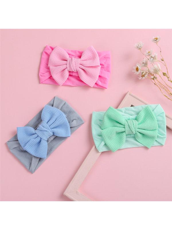 Fabric Bump Bow Newborn Headband