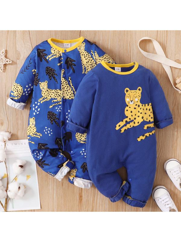 【3M-18M】Baby Boy Animal Print Romper
