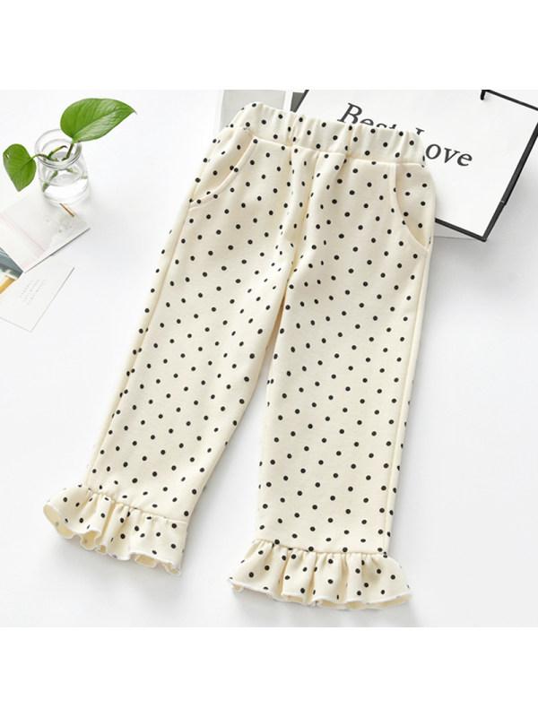 【2Y-9Y】Girl Sweet Polka Dot Pants