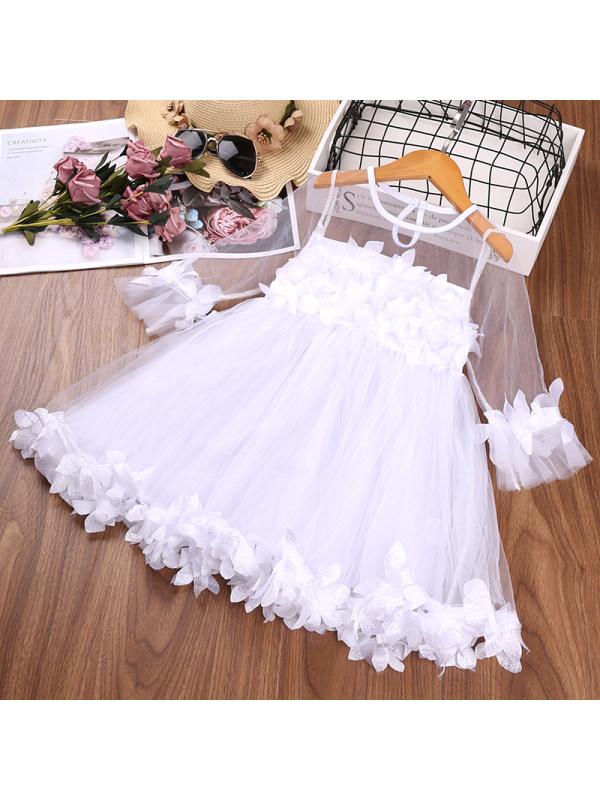 【2Y-9Y】Girls Sweet Petal Lace Dress
