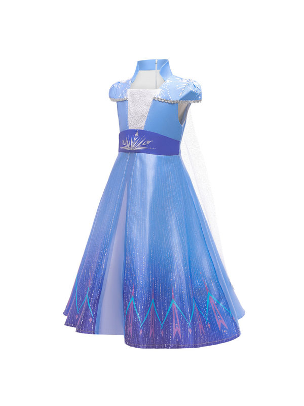【3Y-8Y】Girls Princess Dress Sequined Blue Dress Suit