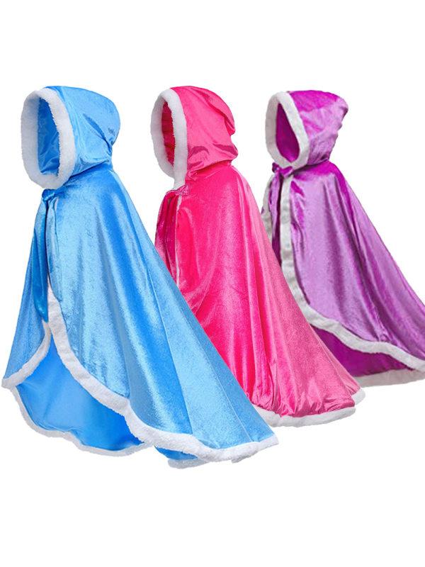 【4Y-9Y】Girls Princess Cloak Cape Shawl
