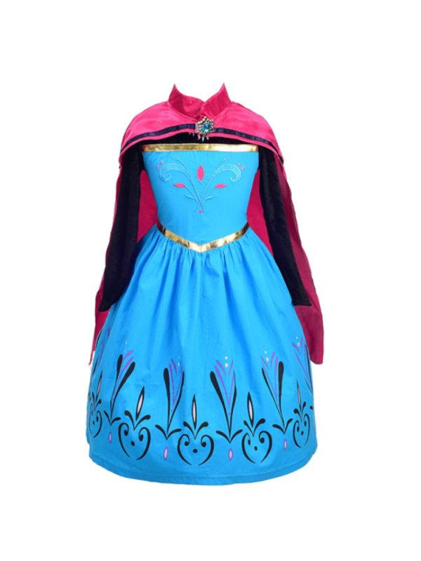 【3Y-9Y】Girls Princess Dress Long Sleeve Dress With Cloak