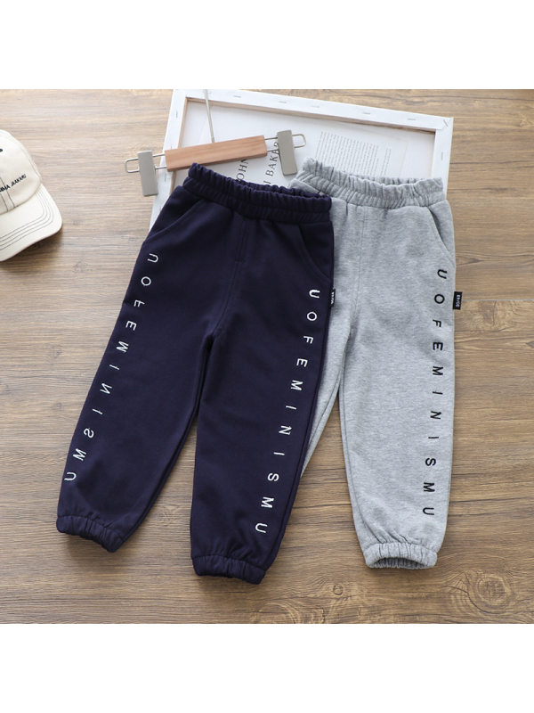 【18M-7Y】Boys Letters Print Casual Sports Trousers