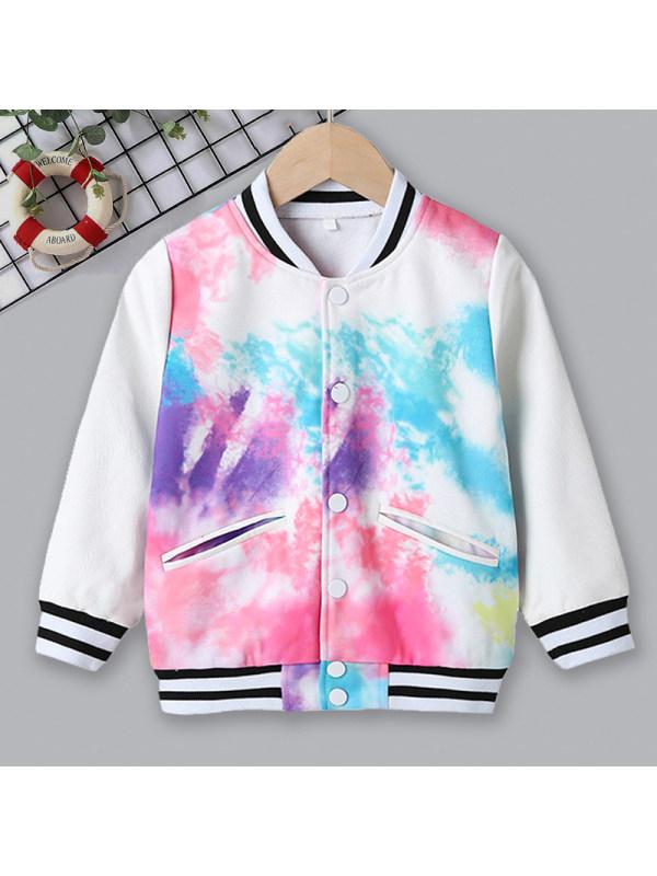 【18M-7Y】 Casual Colorful Printed Long Sleeved Jacket