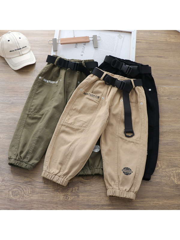 【18M-7Y】Boys Casual Belt Pants