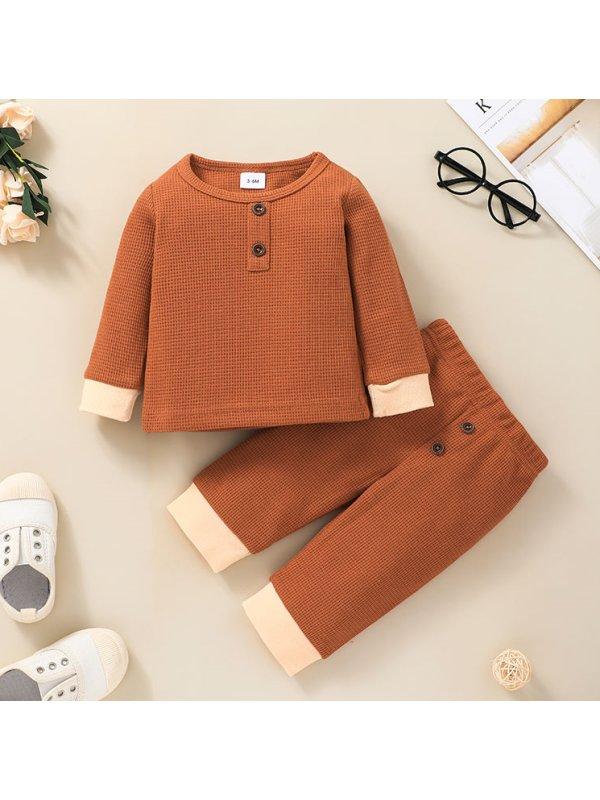 【3M-24M】Baby Solid Color General Suit
