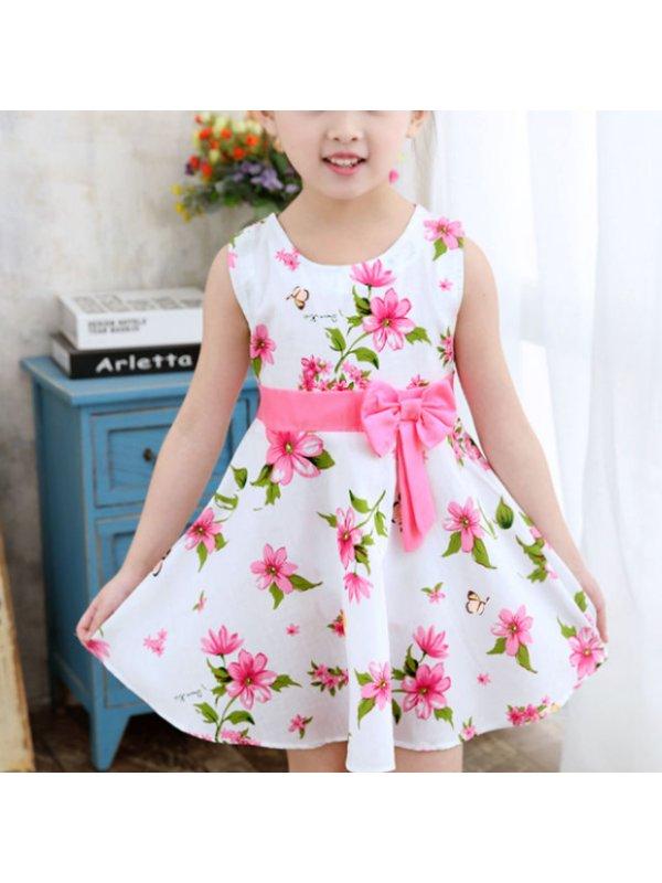 【2Y-9Y】Girls Floral Print Cotton Dress